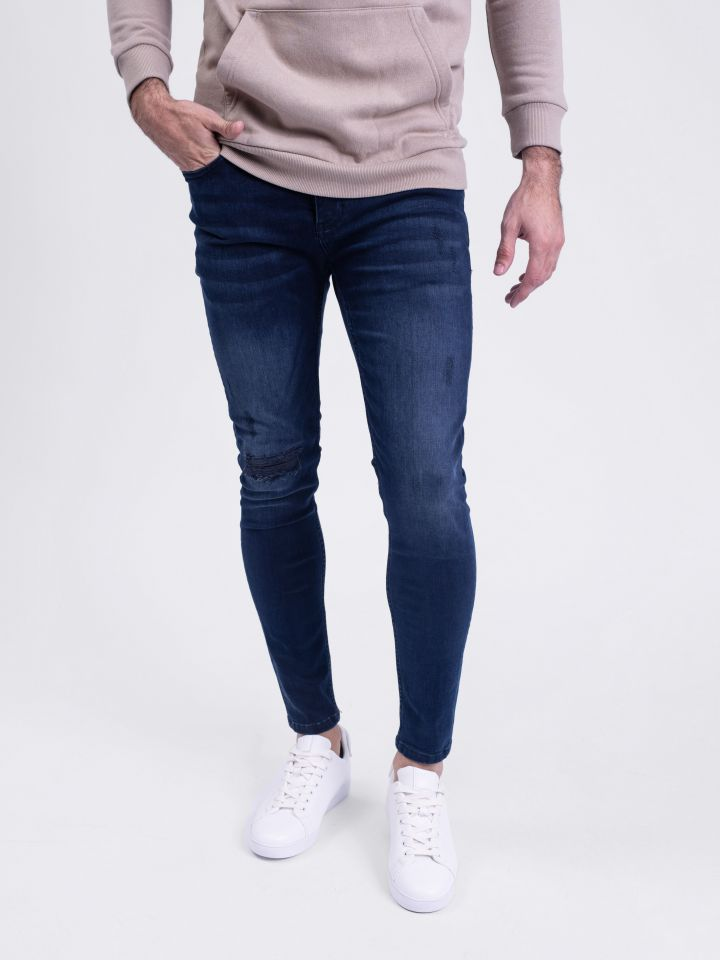 ג`ינס סופר סקיני כחול דיו