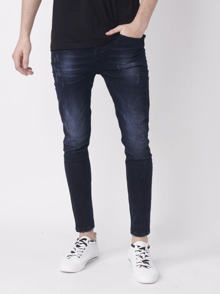 ג'ינס סקיני עם שטיפה עדינה