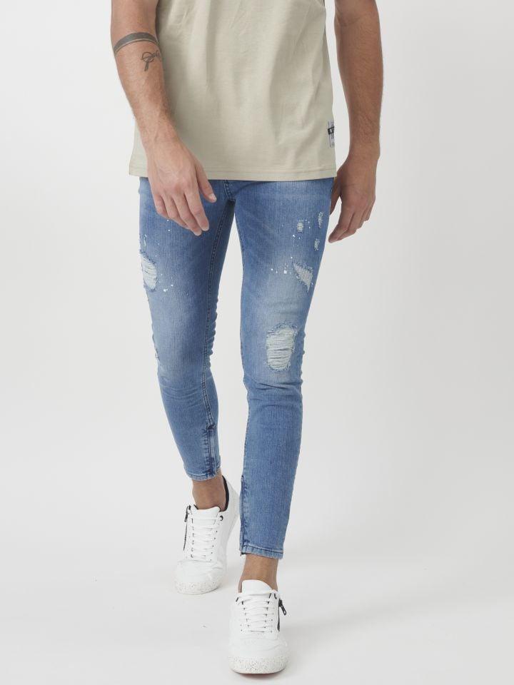 ג`ינס עם חגורה נשלפת