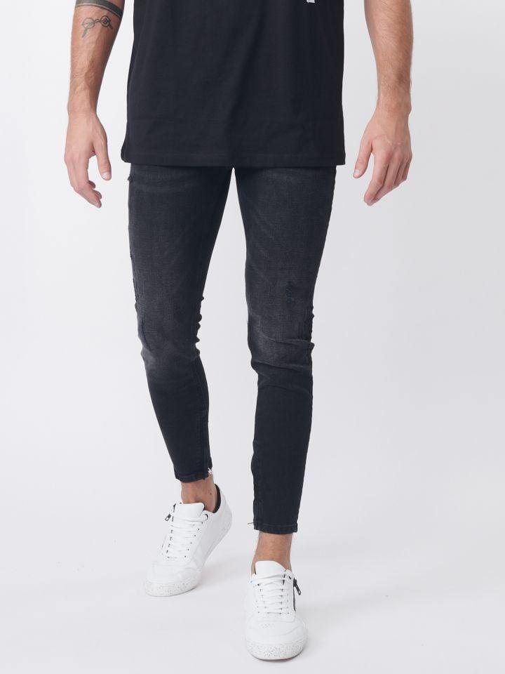 ג`ינס סקיני שחור קלאסי