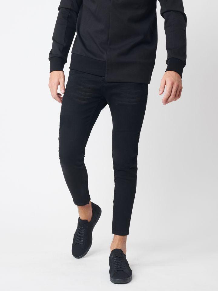 ג`ינס סופר סקיני במראה שחור קלאסי